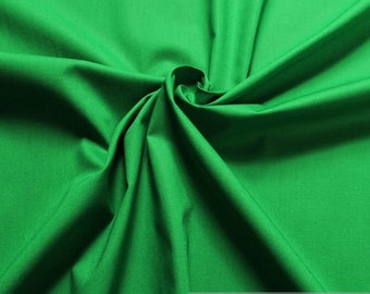 Fabric cotton elastane plain grass-green