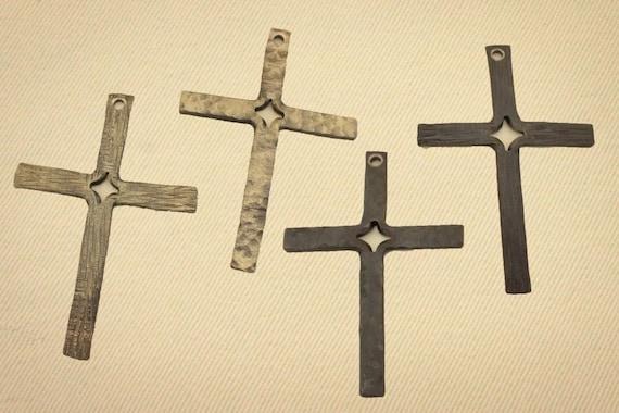 Forged Steel Crosses : Hand forged steel cross by fieryfurnaceforge on etsy