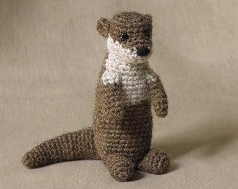 Crochet amigurumi otter pattern