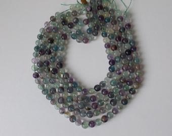 "9 mm Round Natural Fluorite beads 15.5""strand  ( #J978)"