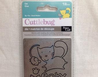 Cuttlebug 3x3 Cat Die