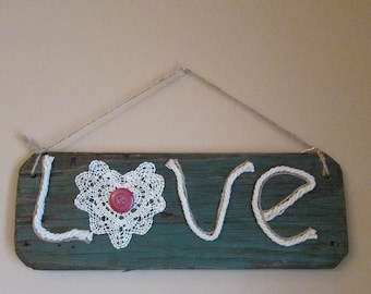 "Primitive Swing ""Love"" Sign"