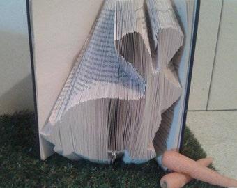 Woodland Rabbit book folding pattern
