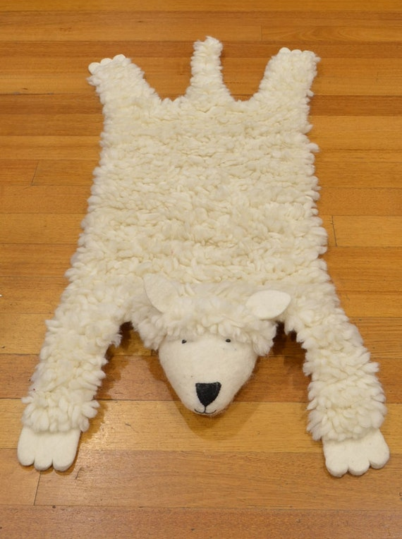 Kids rug animal rug children rug animal skin rug animal character rug Sheep skin rug hunters rug children rug kids Christmas gift rug unique