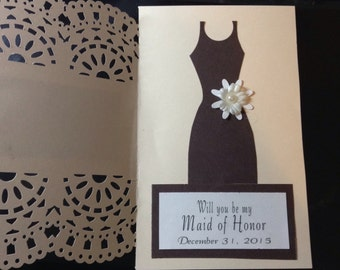 Bridesmaid card with envelope will you be my bridesmaid