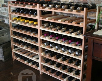 72 Bottle Wine Shelf (Redwood) by VinoGrotto