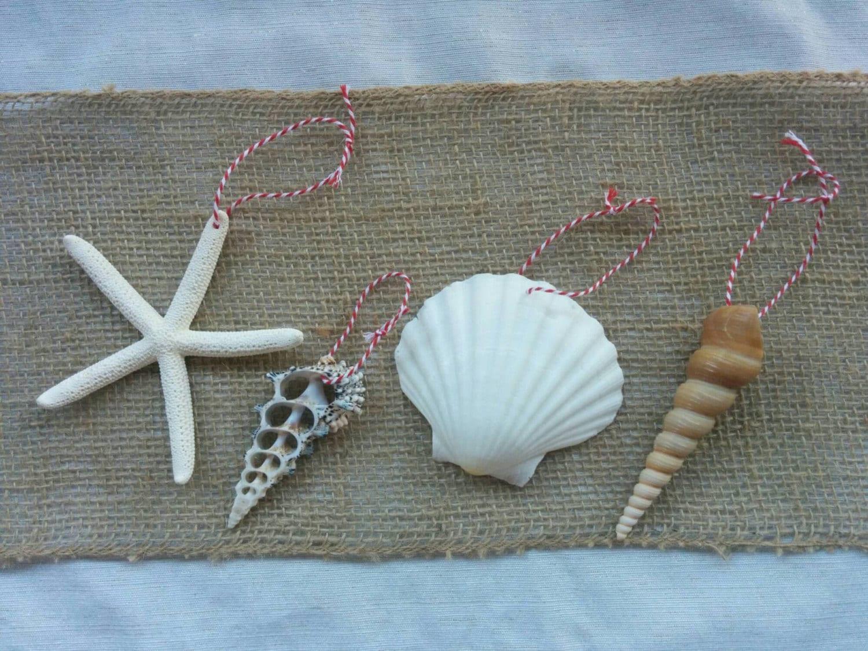 Seashell Ornament Starfish Ornaments Beach Christmas Decor