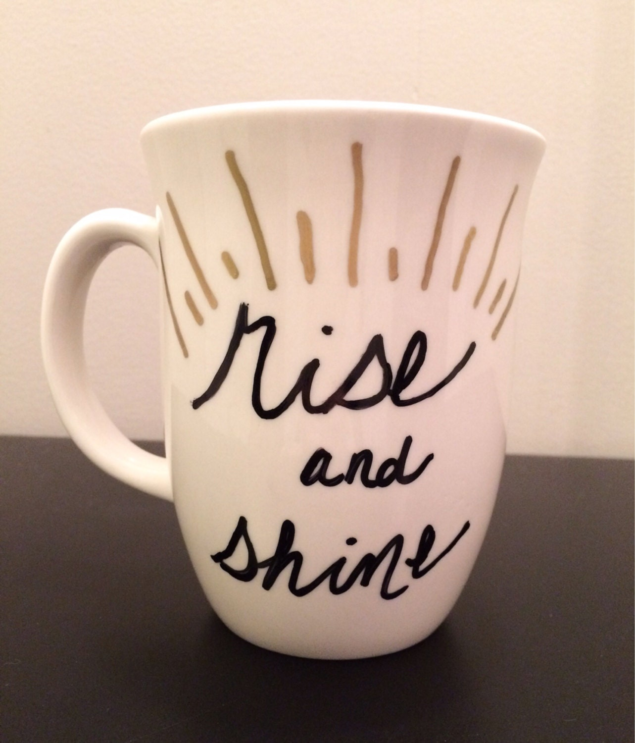 Rise And Shine Hand Painted Coffee Mug By Caleejane On Etsy