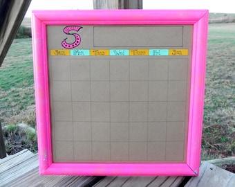 12 x 12 Dry Erase calendar- Monogramed