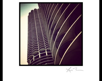 Marina City - Photographic Print or Canvas Wrap - Chicago Photography Artwork, Fine Art Home Decor, fun picture urban architecture downtown
