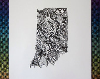 Indiana State Art Print