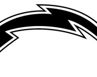 Chargers Bolt Logo Self Adhesive Vinyl Decal