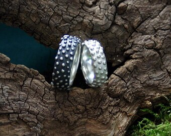 especially wedding rings - dewdrops - handcrafted in silver 925