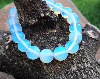 Opalite Gemstone Beaded Bracelet