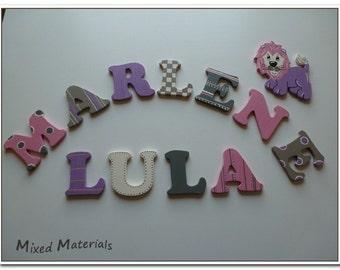 Kids wooden alphabet letters MusterMix 2 girls