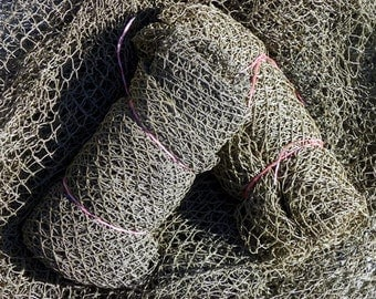 THE Fleets In!~ Authentic Used Nylon Fishing Nets~ Fish Netting ~90 to 100 sq. ft. ~ FREE SHIPPING ~