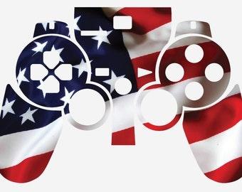 Sony Playstation 3 Controller Skin - American Flag