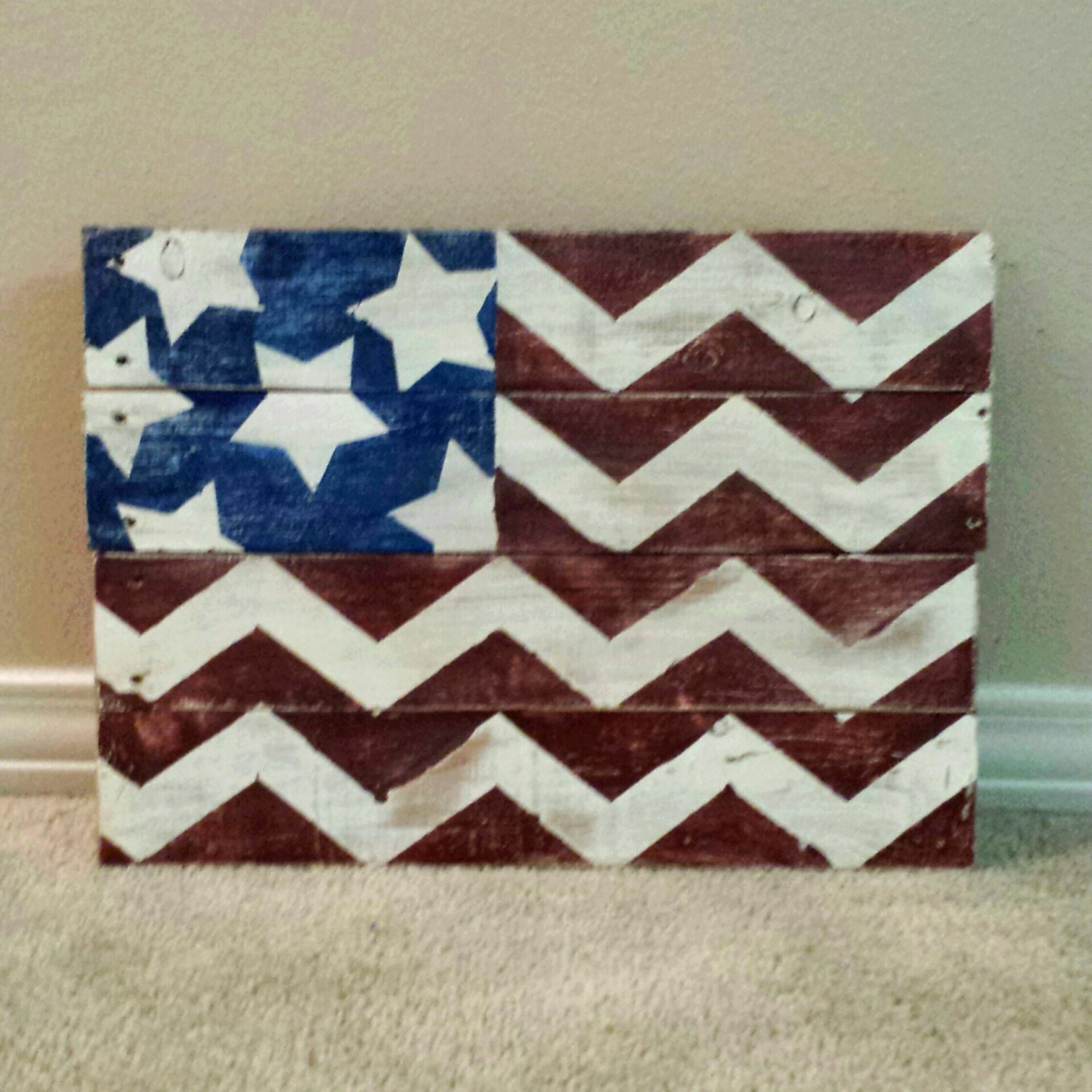American Flag Wood Pallet Sign Distressed by ...