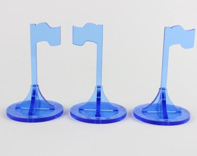 Blue - War Machine 3d Objective Flag 3 Pack