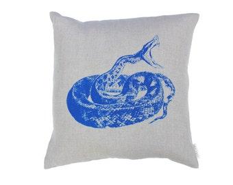 Snake Linen Cushion