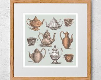 Teapot Art Print: Time for Tea