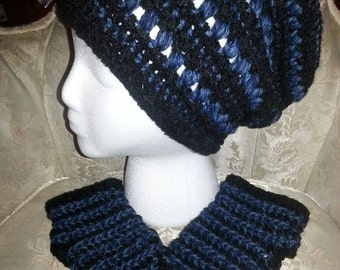 Slouchy Hat Beanie & Fingerless Gloves Set FREE Shipping by Yarntivity