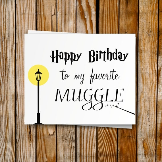 Harry Potter Birthday Cards Free Printable ~ Harry potter birthday card printable diy by printymuch