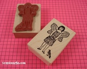 Fairy Girl 2 Stamp / Invoke Arts Collage Rubber Stamps