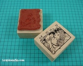 Peace Fairy Stamp / Invoke Arts Collage Rubber Stamps