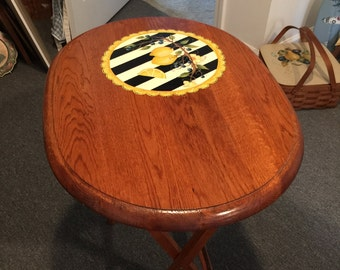 Hand Painted Snack Table