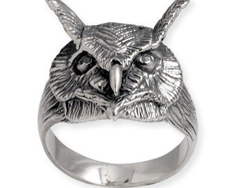 Owl Ring in Silver 925 Handmade in every small detail Artisan