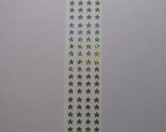 Gold Stars Scrapbooking Stickers