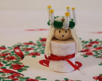Handmade Swedish St. Lucia figurine