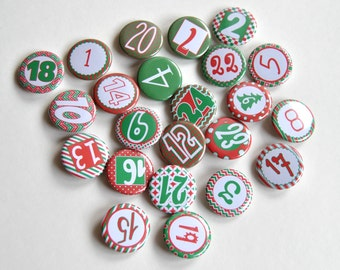 Advent Calendar numbers Button Badge