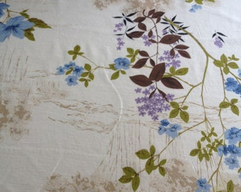 NOS, beautiful vintage drapery fabric, priced per yard. 46 iches wide
