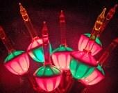 Vintage NOMA Bubble Lights Candelabra  Base Christmas Lights 1990s