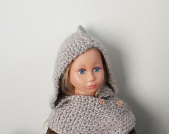 Grey Cape (crochet hat and scarf)