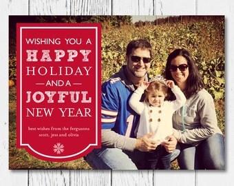 Printable Holiday Photo Card