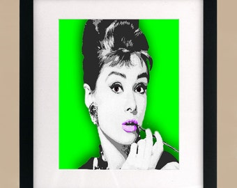 Audrey Hepburn Illustration Print