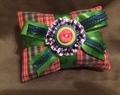 Whimsical Organic Lavender Scent Sachet Stackable with Plaid Fabric~Autumn