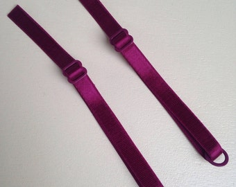 5x Bra Straps In Burgundy With Matching Rings And Sliders