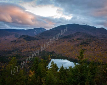 Heart Lake & High Peaks: An Adirondack Fine Art Photography Print 8x10 Inch