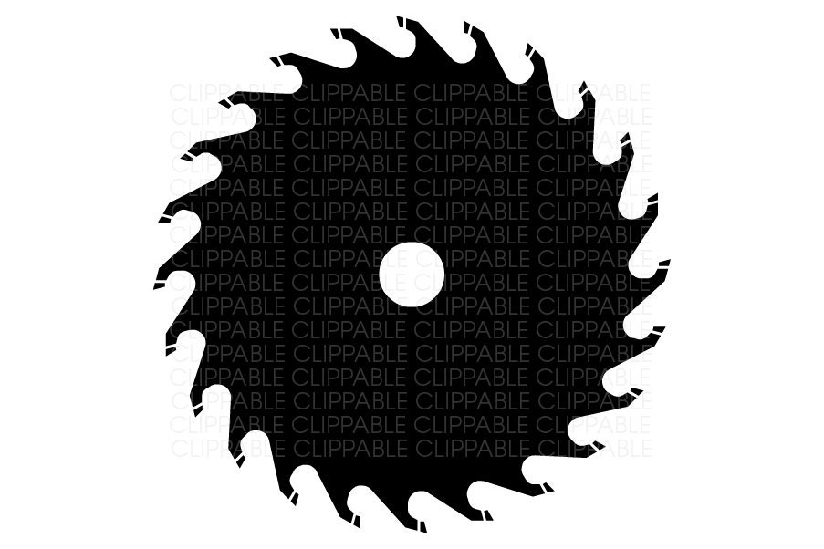 Circular Saw Blade Clip Art Digital Graphics Instant
