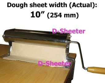 10 inch 254mm Dough roller Dough sheeter Pizza pasta pastry roti ravioli dough maker machine equipment