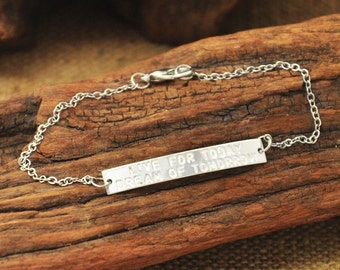 Personalized  Bar Bracelet   Name Bar Bracelet   Bar Bracelet  engraved bar bracelet alloy bracelet  Mothers gift