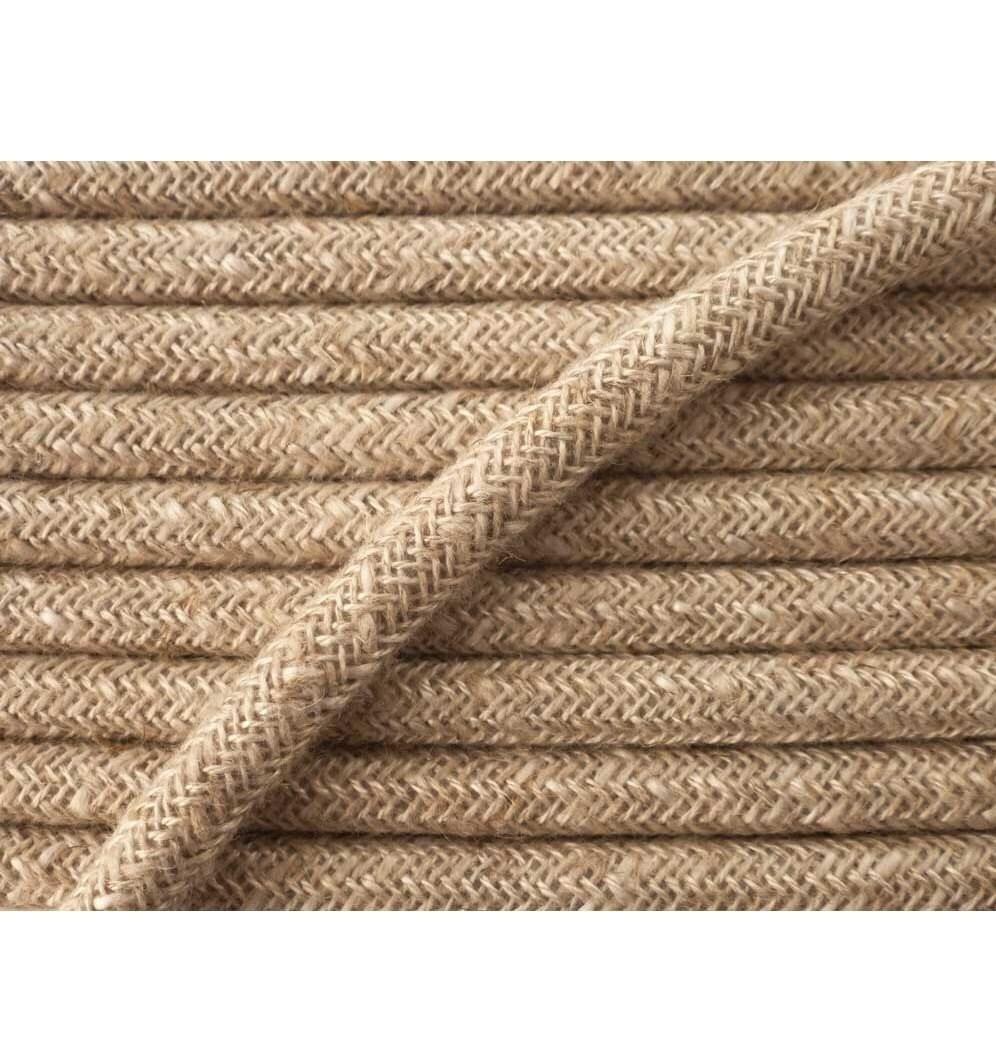 Cable l ctrique textile tissu au m tre - Cable electrique tissu ...