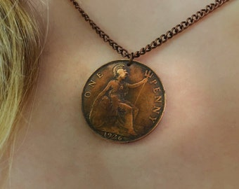 Handmade Vintage British Penny Necklace - Choose Your Year