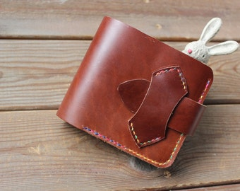 Womens wallet-leather wallets-handstitched leather wallets for men and women-Handmade genuine leather wallet Gift-Retro & modern purse
