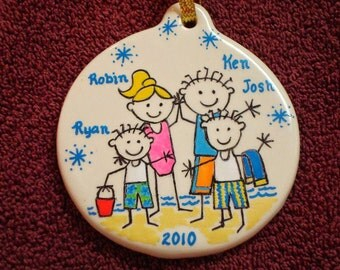 Personalized  Family Christmas Ornaments - hand painted!