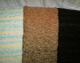 Hand woven plush scarf